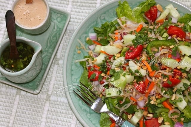 Fresh Thai Salad and Two Thai Dressings