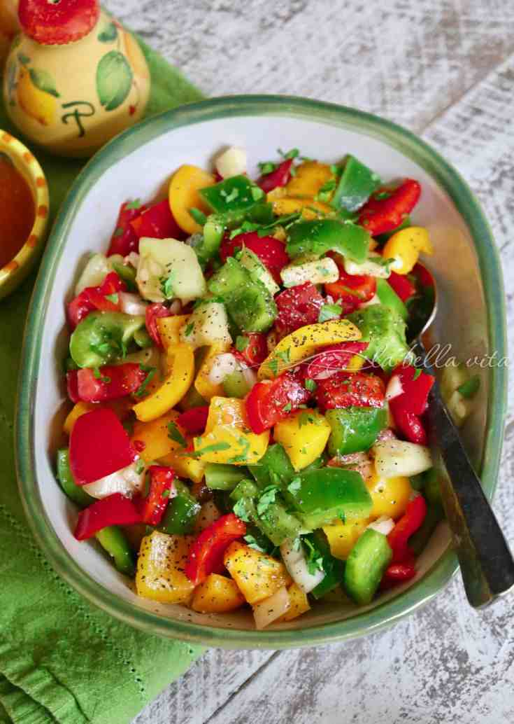 Italian Summer Vegetable Salad