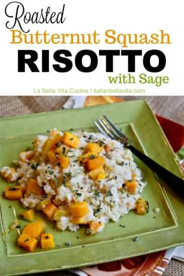 Roasted Butternut Squash Risotto with Sage
