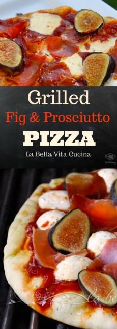 Grilled Fig, Prosciutto and Marinated Mozzarella Pizza
