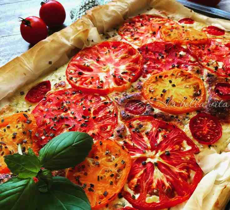 Heirloom Tomato and Italian Cheese Tart