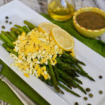 Asparagus Mimosa with Hard Boiled Eggs and Vinaigrette