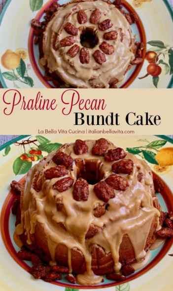 Praline Pecan Bundt Cake