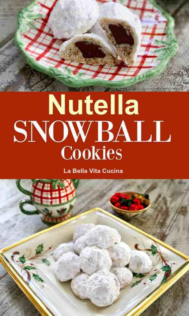 Nutella Stuffed Snowball Cookies