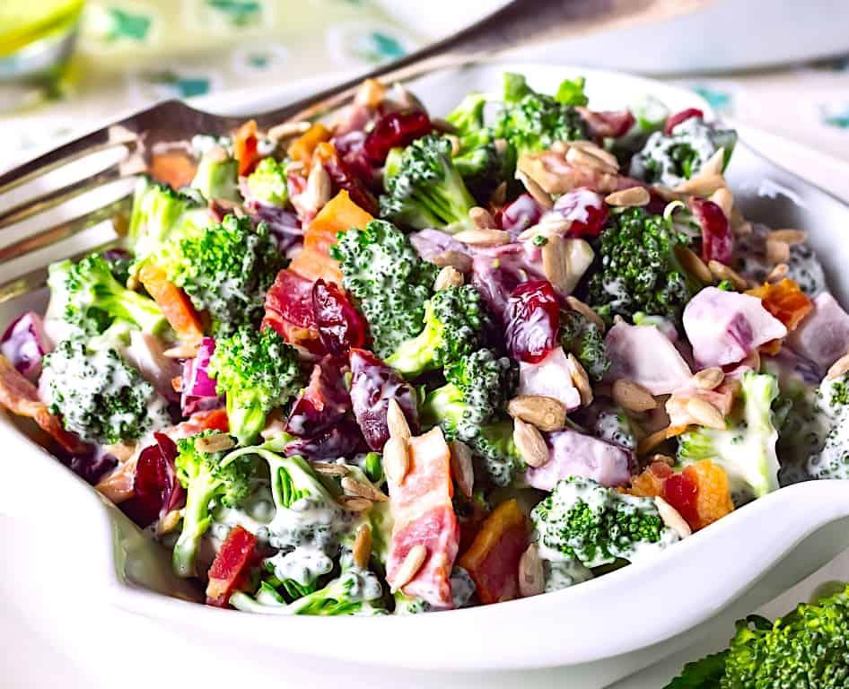 Classic, Creamy, Loaded Broccoli Salad