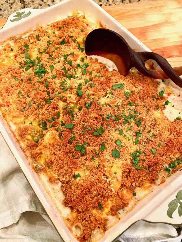 Amazing Cheesy Italian Turkey Tetrazzini