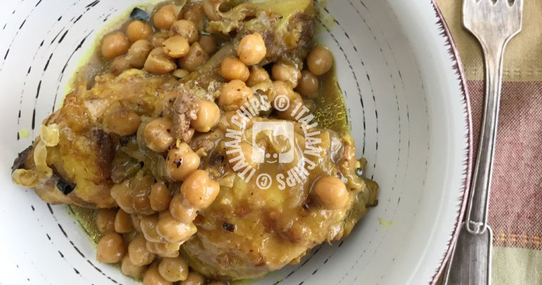 Chicken With Curry And Chickpeas
