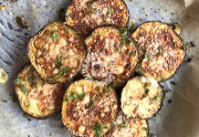 roasted eggplant with cheese