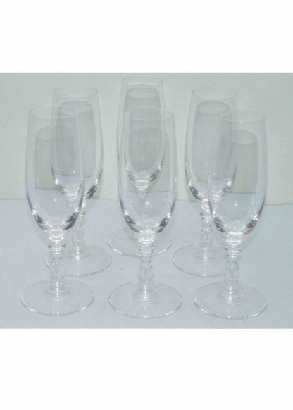 Dressed champagne glasses