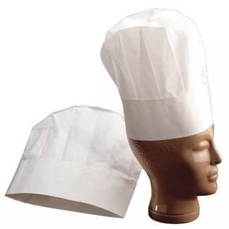 Cappello da cuoco standard 10 pezzi