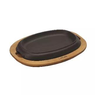 Piatto con supporto legno