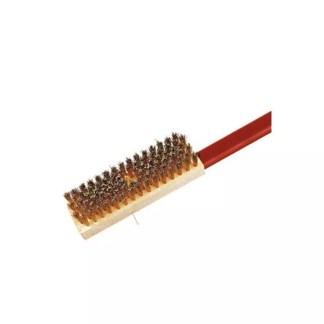 Adjustable brush brass bristles
