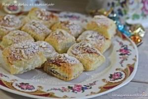 ravioli dolci con cioccolato