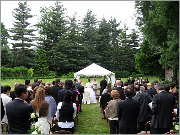 Villa Giannone Outdoor Religious Wedding Ceremony In Italy