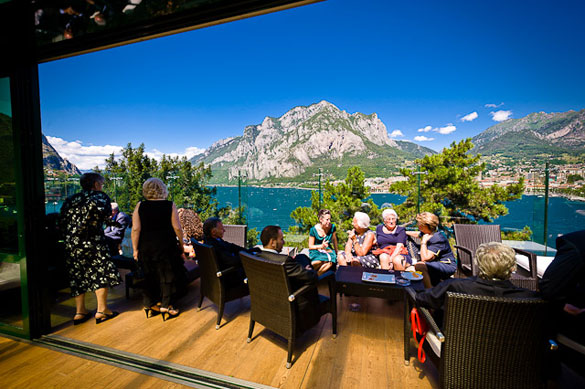 panoramic wedding restaurant in Lecco, Lake Como