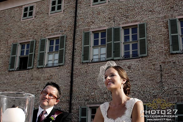 wedding ceremony at Castello of Gaja