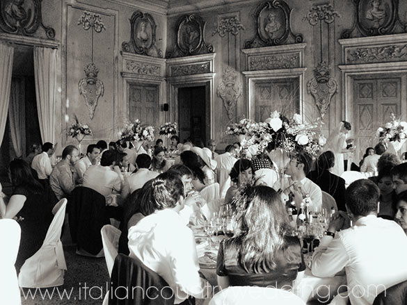 wedding dinner to Canavese castle Piemonte Italy