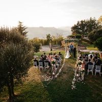 A Romantic Autumn Wedding Overlooking Vineyards Hills in Piemonte Countryside