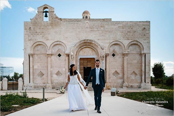Church wedding in Gargano Apulia countryside