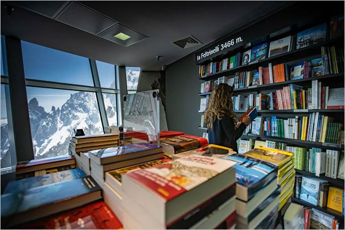 Skyway book shop Feltrinelli