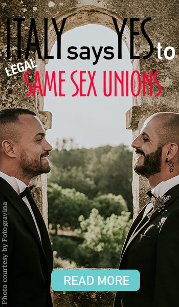 Same sex country wedding in Italy