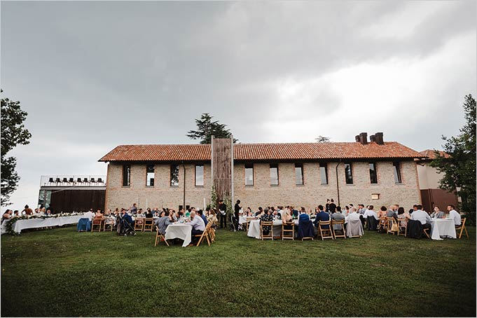 Garden Reception on Langhe hills