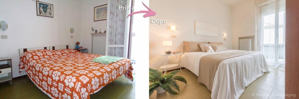 Mirna Casadei home staging camera da letto