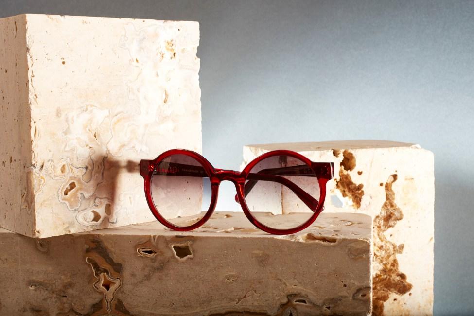 Occhialeria artigiana rosso da sole