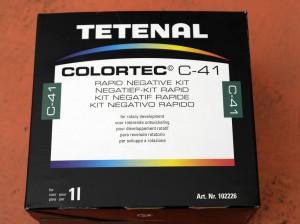 Confezione kit per lo sviluppo C41 casalingo