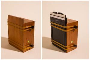 La fotocamera con il dorso in legno e con uno chassis standard