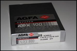 Agfa APX 100 formato lastra 6,5x9
