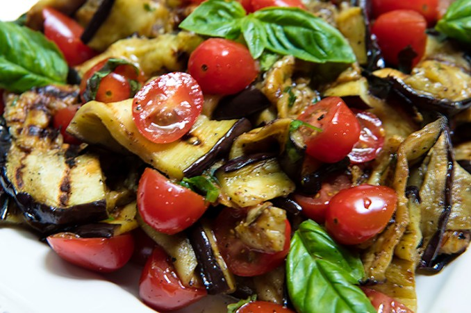 Grilled Eggplant & Tomato Salad Recipe | Italian Food Forever