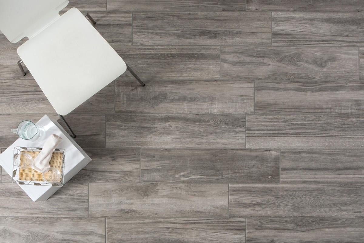 Wood effect floor tiles  Tree grigio 202x802 by Ceramiche CRZ64