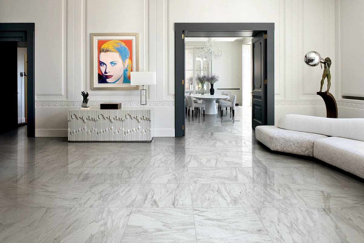 Gres porcellanato effetto marmo melange grigio CA 7002 59X59 NAT