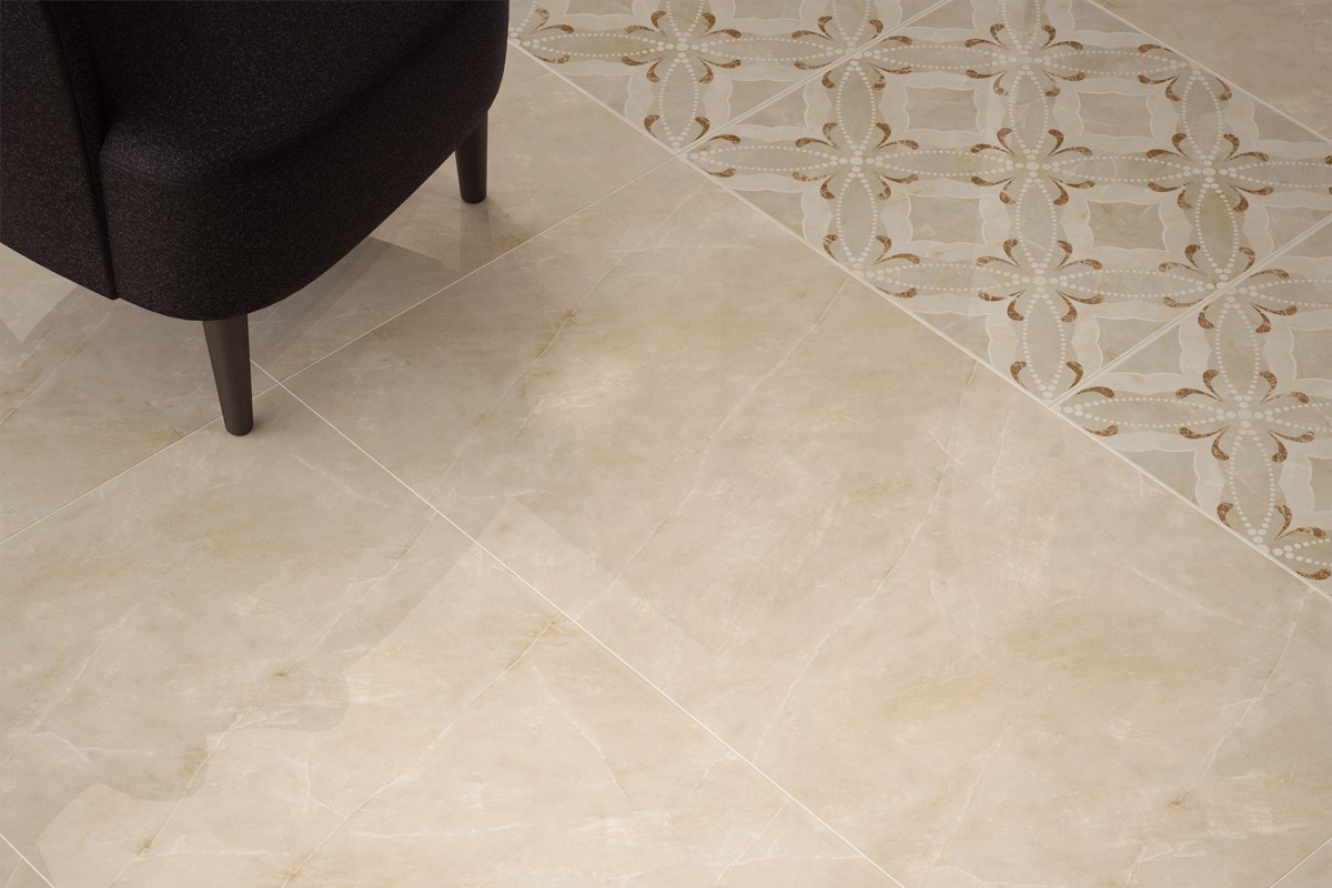Gres porcellanato effetto marmo crema PA 1206 59X119 LUC