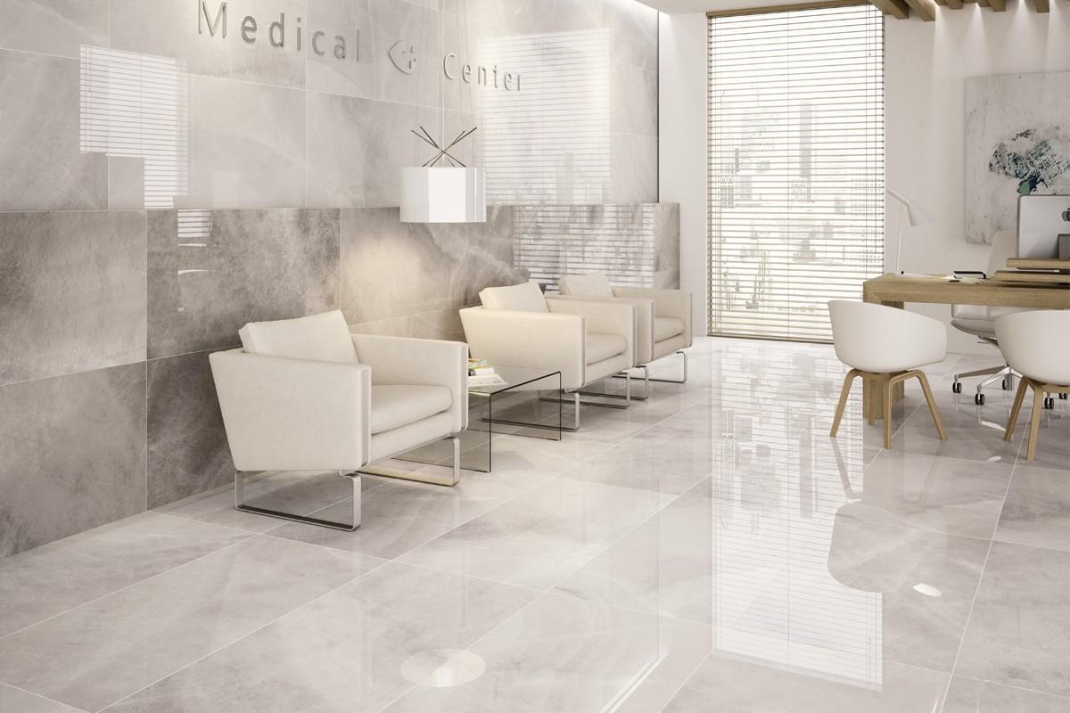 Gres porcellanato effetto marmo agata bianco PA 1201 59X59 LUC