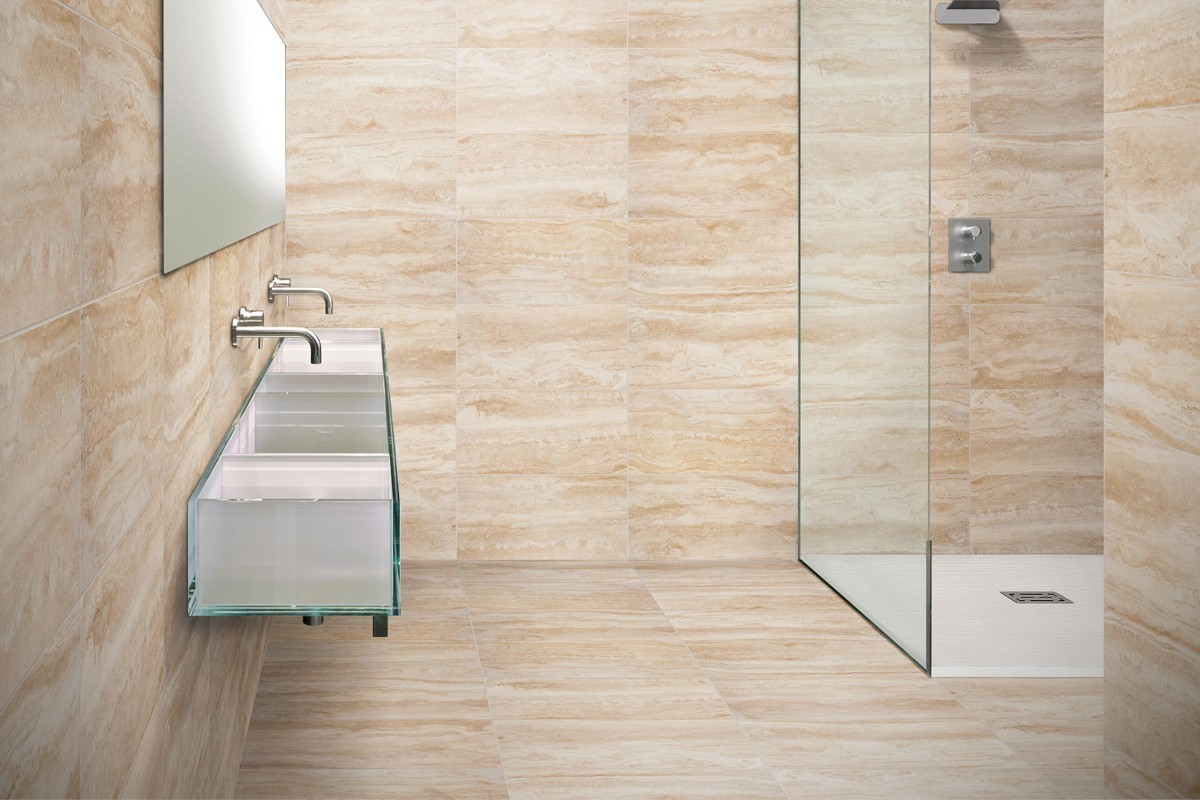 Gres porcellanato effetto marmo Travertino 30x60 Ceramiche CRZ64