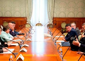 Il Presidente Matteo Renzi, incontra le OO.SS. CGIL, CISL, UIL e UGL. foto: Tiberio Barchielli, Filippo Attili