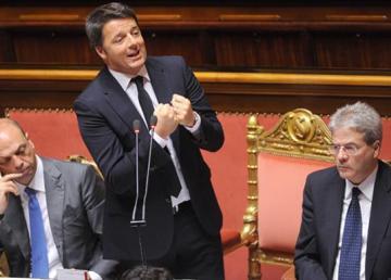 24 Giugno 2015. Il Presidente del Consiglio Matteo Renzi al Senato per le comunicazioni in vista del Consiglio Europeo del 25 e 26 giugno. foto: Tiberio Barchielli