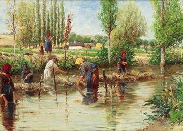Raccolta della canapa nell'Ottocento in un quadro di un pittore austriaco Di Theodor von Hörmann - http://www.imkinsky.com/, Pubblico dominio, https://commons.wikimedia.org/w/index.php?curid=562106