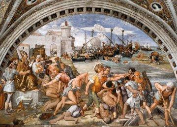 Battaglia di Ostia di Raffaello Sanzio e allievi (1514-1515)
