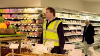Bella trovata pubblicitaria della Saclà in un supermercato di Londra