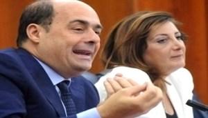 Zingaretti e Sonia Ricci - www-ilcaffè-tv - 350X200