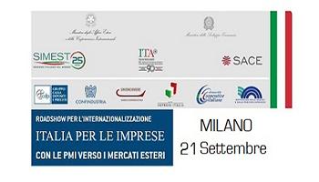 Roadshow per l'Internazionalizzazione ITALIA per le Imprese