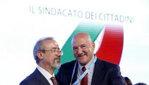 Carmelo Barbagallo e Luigi Angeletti (ansa)