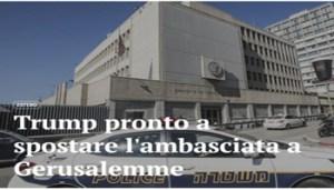 Trump pronto a spostare Ambasciata a Gerusalemme - Cattura - www-agi-it - 350X200