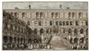 L'incoronazione del Doge sulla Scala dei Giganti, Disegno su carta – mm: 389 x 554