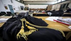 L'Aula Bunker del carcere di Rebibbia dove si svolge il processo sulla strage di Capaci durante il quale depone il pentito Giovanni Brusca, Roma, 24 novembre 2014. ANSA/MASSIMO PERCOSSI