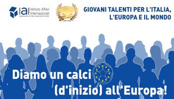 I giovani e l'Europa: un premio dallo IAI