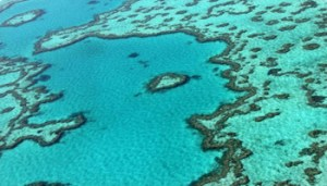 (FILES) This file photo taken on November 20, 2014 shows an aerial view of the Great Barrier Reef off the coast of the Whitsunday Islands, along the central coast of Queensland. Australia is breaching commitments to protect the embattled Great Barrier Reef from the effects of land clearing, environmental groups claimed on June 25, 2018, and called on the UN to probe the alleged failures. / AFP PHOTO / Sarah LAI